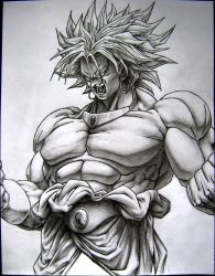 Broly the super saiyan by TicoDrawing