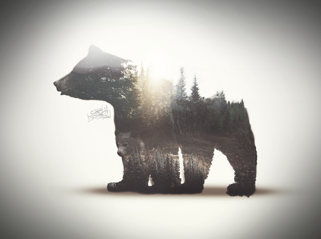 animal double exposure by HabaryIbrahim