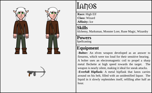 Character Card - Ianos by ZauberParacelsus