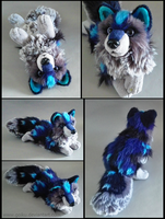 SOLD - Night Frost wolf ~ small floppy by goiku