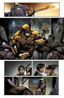 Wolverine #5 - Page 03 color by Sandoval-Art