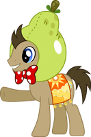 Doctor Whooves Pear Hat and Bowtie by ChainChomp2