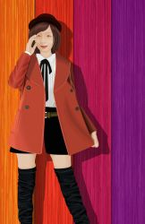Elaine in trench coat by khiunngiap