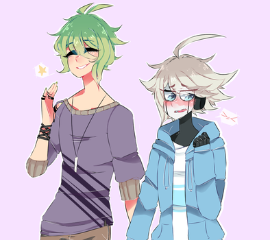 Au avocado husbando and robot son by JellieSquid-Era
