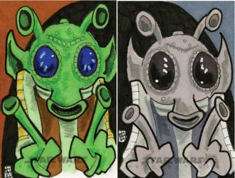 Star Wars Chrome Perspectives - Greedo by 10th-letter
