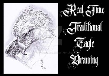 Traditional Real time Eagle Drawing!! Video on YT! by Halasaar01