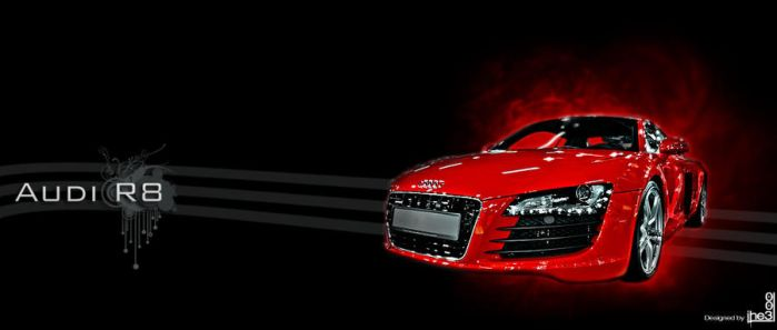 Audi R8 red by iheb003