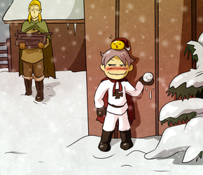 Better Watch Out -Chibi Prussia- by Arkham-Insanity