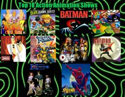 Top 10 Action Animation Shows by JQroxks21