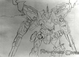 armored core 4 white glint WIP by mlvnsnmgl