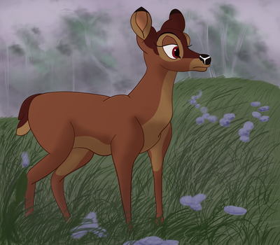 Bambi's Mother by Fawnadeer