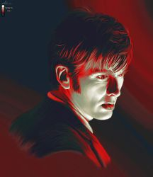 10th Doctor in Skeleton War by LicieOIC