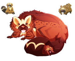 Bibarel and Bidoof- Flat tailed Fuzzballs