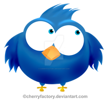 Vectorial Twitter Bird by CherryFactory