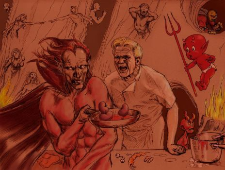 Gordon Ramsey yells out Mephisto by Nick-Perks