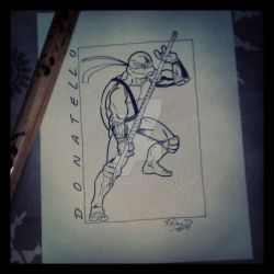 Donatello (inked over pencil) by Moon-Toons