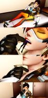 [MMD] Tracer Vore by solidsunny