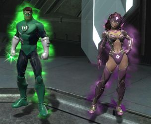 DCUO Hal Jordan and Carol Ferris by VexylGraphics