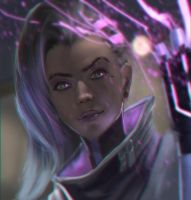 Sombra from Overwatch! by fate-fiction