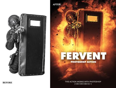 Fervent Photoshop Action by GraphicAssets