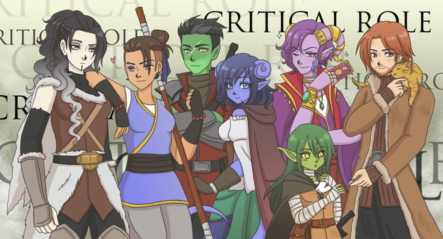 Critical Role: New Crew by SilverHyena