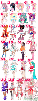 (OPEN) $5 - $9 MEGA Adoptable batch SALE! (6/25) by Mymy-TaDa