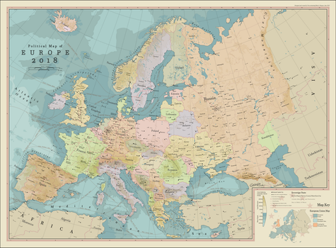 Political Map of Europe 2018 by procrastinating2much