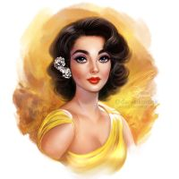 Happy New Year: Liz Taylor by daekazu