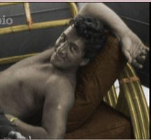 Shirtless Dean Martin Colorize by ajax1946