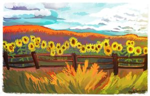 Sunflowers by Inprismed