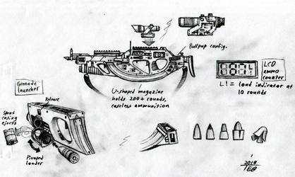 Assault Rifle concept by Stingray-24
