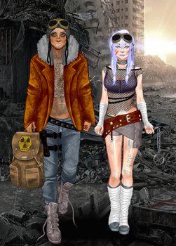 Post Apocalyptic   Couple by marriotte43