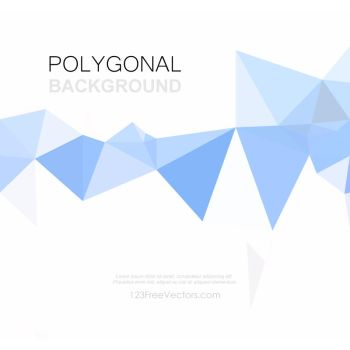 Light Blue Geometric Polygon Background Free Vecto by 123freevectors