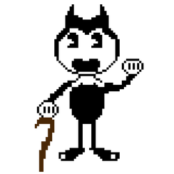 Bendy Pixel with Cane by GamingChiliHedgehog