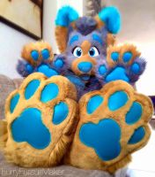 Bing showing off his beans by FurryFursuitMaker