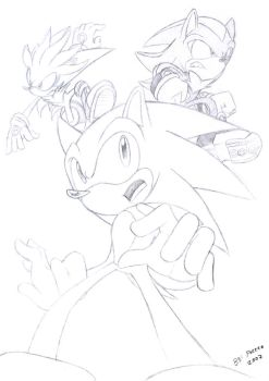 Sonic Silver and Shadow by Faezza