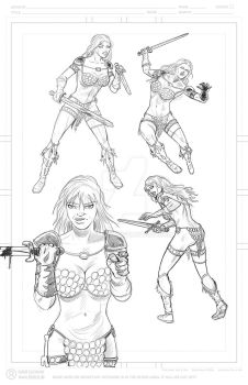 Red Sonja Charakter studies by racsmany