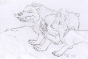 Trade:Truttle and cat -sketch- by catgir