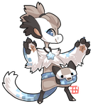 #659 Blessed Legendary BB  w/m - Pixelated fox by griffsnuff