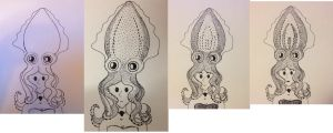 The evolution of the mermaid cuttlefish hat. by LucyQ602