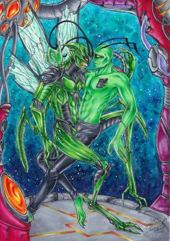 Green in Space by Lennylein
