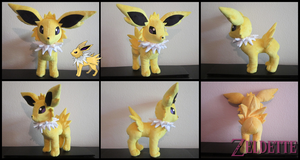 Jolteon Plush - Pokemon by Maz-Zeldette