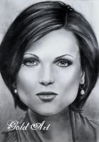 Lana Parrilla Speed Drawing by ArtGoldArt