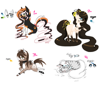 Cat Chibi Horse/Pony Adopts by NeoGloomAdopts