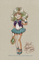 Sailor Neptune Sketch Card by alex-heberling