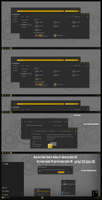 Numix Dark Yellow Theme Win10 April 2018 Update by Cleodesktop
