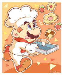 Chef Mario by Domestic-hedgehog