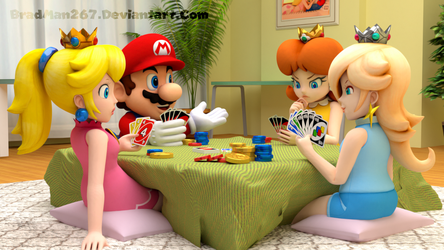 Mario and Girls: UNO Night by BradMan267