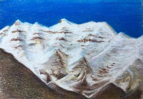 Mt. Timpanogos in Oil Pastel by tadamson