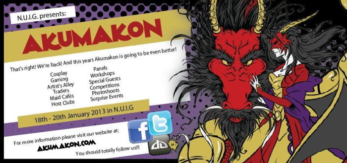 Akumakon Flyer 2013 by Bubblecat